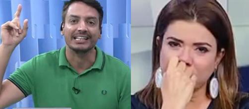 Leo Dias e Mara Maravilha, apresentadores do Fofocalizando