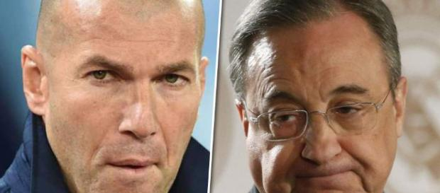 Florentino Pérez, al límite con Zinedine Zidane - donbalon.com