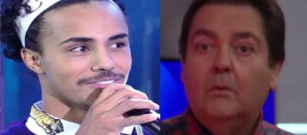 Livinho zomba de Faustão ao vivo e o que ele faz choca até a Globo. (Foto Reprodução).