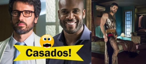 Samuel e Cido passam a morar juntos após inusitado pedido de casamento da parte do médico! (Reprodução/Web Montagem/Telma Myrbach)