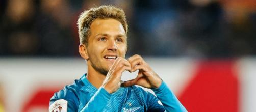 Criscito con la maglia dello Zenit