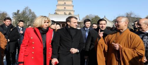 Emmanuel Macron en visite officielle en Chine