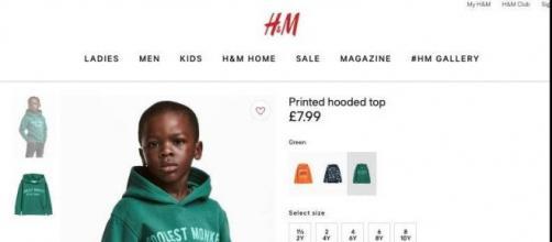 Foto de la polemica sudadera de H&M
