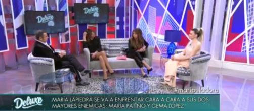 María Lapiedra se enfrenta cara a cara con María Patiño y Gema López