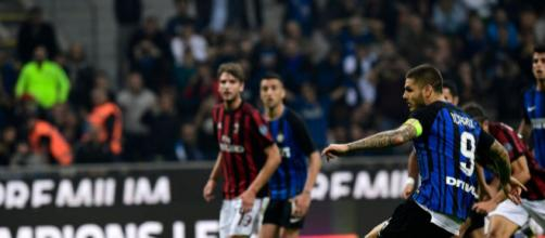 Milan-Inter derby con rigore di icardi