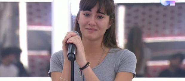 Aitana, derrumbada en su semana más dura en OT sin Cepeda