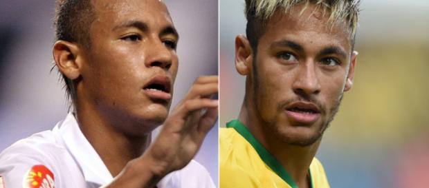 Antes e depois de Neymar Júnior. (Foto Reprodução).