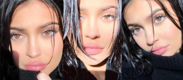 Kylie Jenner continua muito sumida do olhar do público