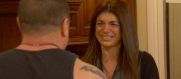 Teresa Giudice cries to Joe Giudice on 'RHONJ.' - [Photo via Bravo / YouTube screencap]