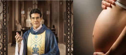 Acusação agita Facebook do padre (foto / montagem)