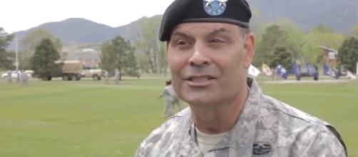 Fort Carson change of command. - [Colorado Springs Gazette / YouTube screencap]