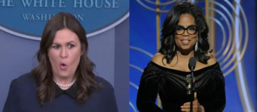 Sarah Huckabee Sanders, Oprah, via Twitter