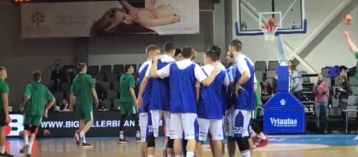 The Balls' venture into professional basketball in Europe starts with a W [Image via YouTube]