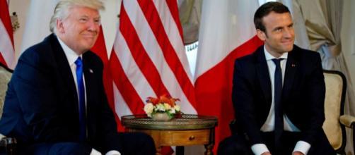 Trump a évoqué le sujet de la Corée avec Macron