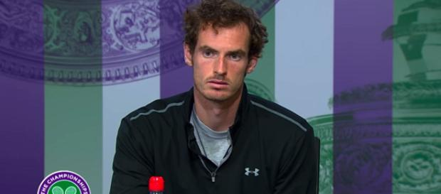 Andy Murray during a press conference at Wimbledon/ Photo: screenshot via Wimbledon channel on YouTube