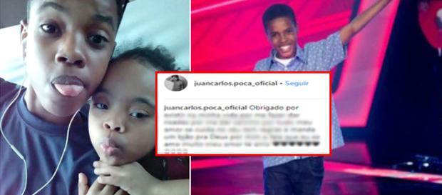 Juan Carlos Poca e Dellanie Elisse Cassiano Poca (Divulgação/TV Globo/Reprodução/Instagram)