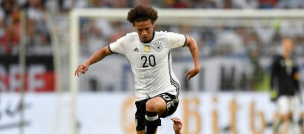 Sané im Trikot der deutschen Nationalmannschaft (Quelle: thesun.co.uk)
