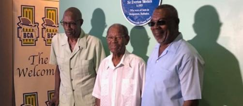 Cricket legends Sir Wesley Hall, Sir Charlie Griffith and Mr.Desmond Haynes. Image credit (Supplied: BTMI)