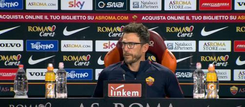 Il tecnico della Roma Di Francesco in conferenza stampa