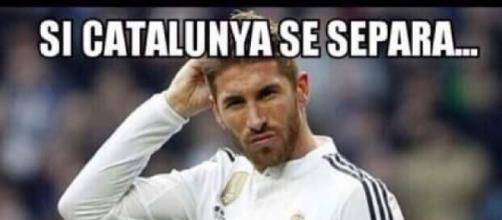 Sergio Ramos se pregunta si Aragón tendrá playa. / Google