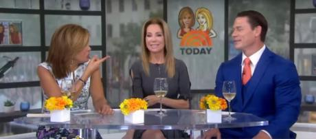 Kathie Lee Gifford traded career advice with John Cena on Today. [Image source: TODAY-YouTube]