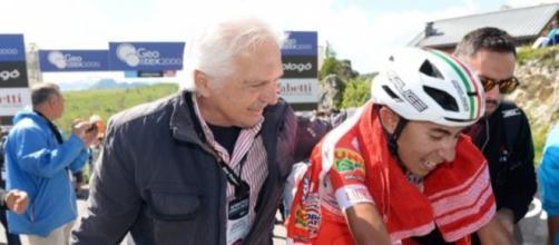 Gianni Savio, team manager della Androni, con Ivan Ramiro Sosa