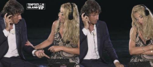 Il falò di confronto di Patrick Baldassarri e Valeria Marini. Blasting News