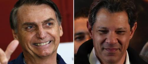 """Jair Bolsonaro teceu críticas a Fernando Haddad e à proposta do petista de combater """"fake news"""" espalhadas on-line (Foto: reprodução)"""