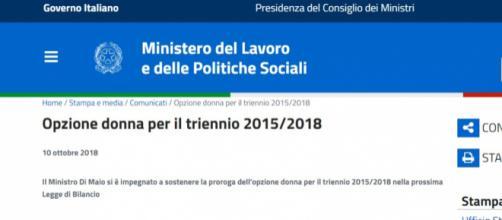 Riforma Pensioni, il ministro Luigi Di Maio: 'Ok Opzione donna in manovra', le novità in arrivo con la manovra