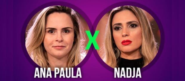 Ana Paula ou Nadja, o público está votando em quem deve ficar. Foto: reprodução.