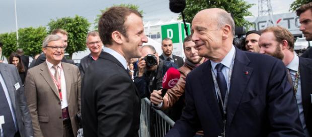 Emmanuel Macron soutenu par Alain Juppé sur l'Europe