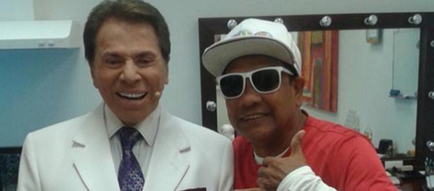 Liminha com o patrão, Silvio Santos.