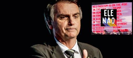 Jair Bolsonaro, alvo do EleNão por artistas gringos