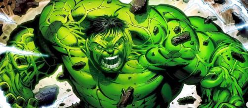 Hulk em um de seus momentos de pura raiva.