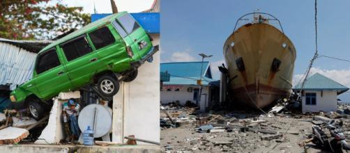 Imagens revelam a tragédia provocada pela fúria da natureza na Indonésia.