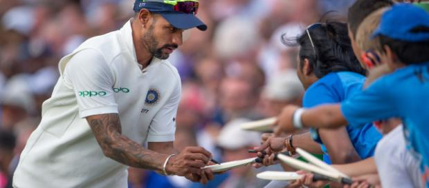 India drop Dhawan for West Indies series | (Image via cricket.com/Twitter)