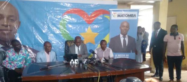 Le candidat du Purs Serge Espoir Matomba (c) Odile Pahai