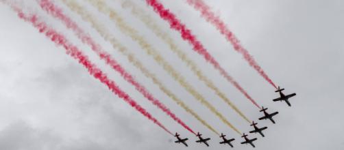La patrulla Águila durante su ejercicio (Fuente: El País)