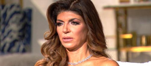 Teresa Giudice is seen on the 'RHONJ' reunion. - [Bravo / YouTube screencap]