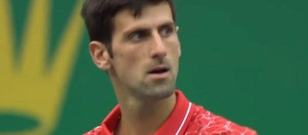 Novak Djokovic is into the semis at the 2018 Shanghai Rolex Masters. [image source: Tennis TV/ YouTube]