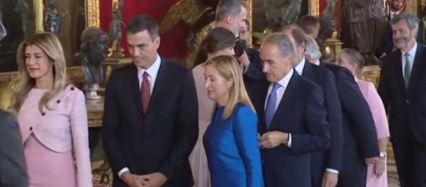 Pedro Sánchez en la recepción de