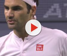 Roger Federer lost to Borna Coric in straight sets in Shanghai. [Image source: Tennis TV/ YouTube]