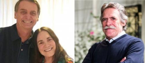 José de Abreu critica Regina Duarte nas redes sociais
