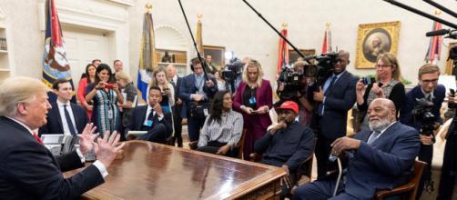 Kanye West visits the White House. [image source: Joyce N. Boghosian - Flickr]