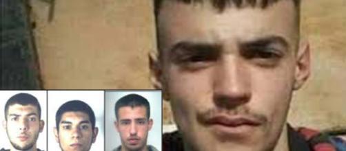 Manuel Careddu: 5 arresti per l'omicidio del 18enne; in basso, da sinistra: Christian Fodde, Matteo Satta e Riccardo Carta