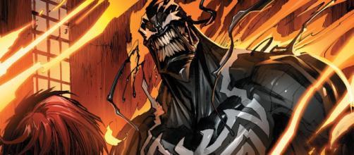O simbionte Venom, primeiro a aparecer nos quadrinhos.