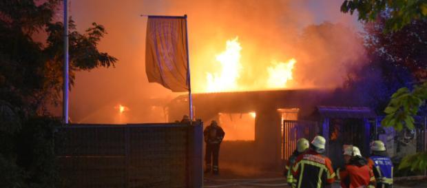 Die Kneipe brannte vollständig aus. Foto: rn-aktuell.de/Friedrich