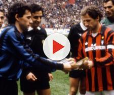 Beppe e Franco Baresi, fratelli-rivali e capitani di Inter e Milan in un derby dei primi anni '90