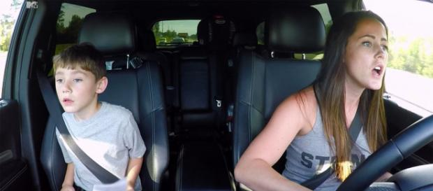 Jenelle Evans is seen on 'Teen Mom 2' with son Jace. - [MTV / YouTube screencap]