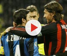 Javier Zanetti e Paolo Maldini, i recordmen di presenze al derby di Milano